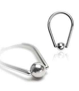 -Dråbeformet captive bead ring - mange størrelser