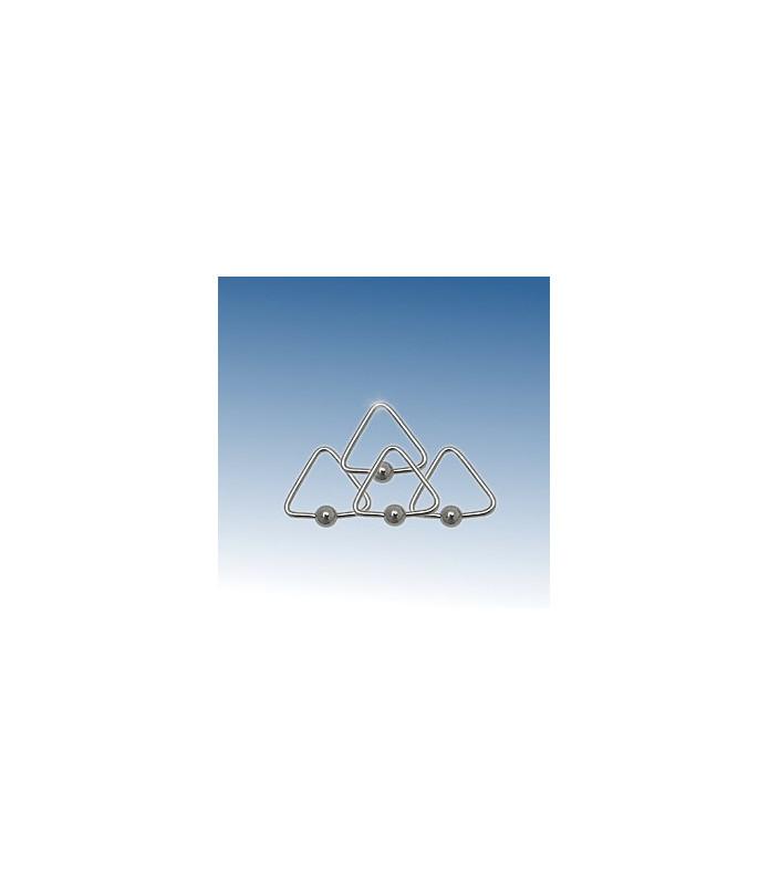 Trekantet captive-bead piercing ring G16