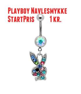 AUKTION!  Playboy Navlepiercing  Startpris 1 kr.