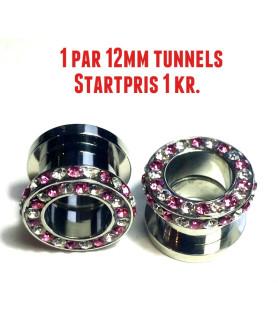 AUKTION! 1 sæt Tunnels 12mm  Startpris 1 kr.