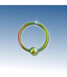 Closure ring rainbow anodiseret 8 mm.