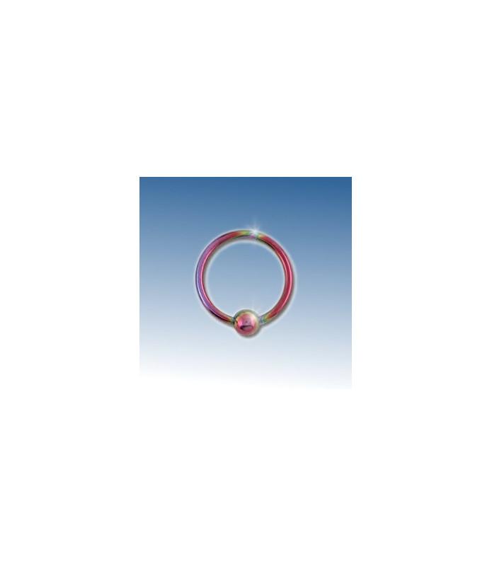 Closure ring pink anodiseret 8 mm.