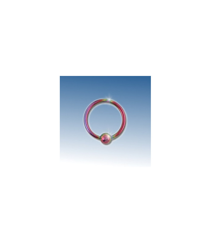Closure ring pink anodiseret 8 mm.