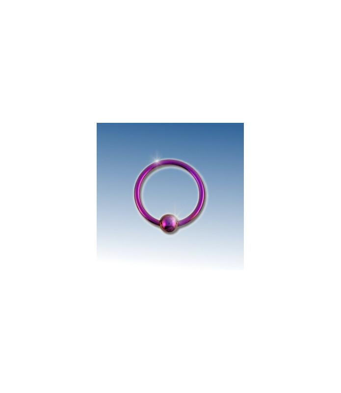 Closure ring lilla anodiseret 8 mm.