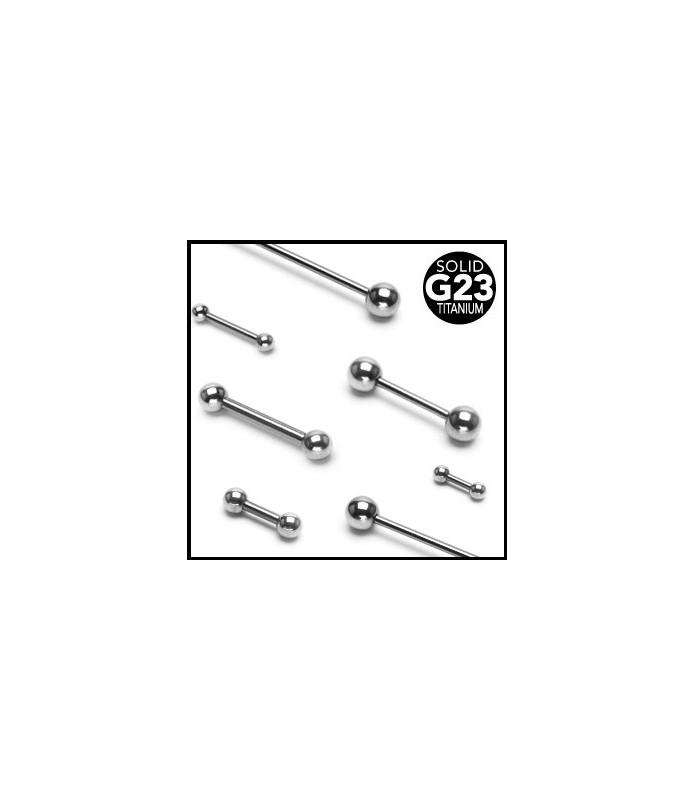 Ren Grade 23 titanium tungepiercinger flere. str.