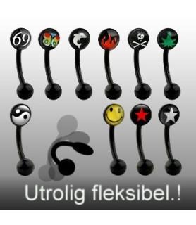 Bioflex øjenbrynspiercinger - mange lækre designs