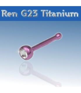 Flot Pink titanium næsepiercing med flot Cz.