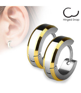 Smukke stilrige Steel Hoop øreringe