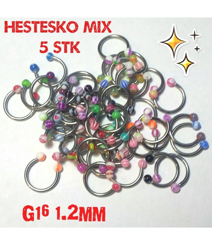 Farverigt Hestesko MIX