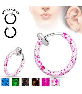 Fake Piercing Splatter Ring til Øret - Læben - Næsen