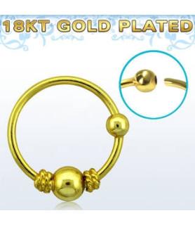 Guldbelagt næsering med flot Balinesisk tråddesign