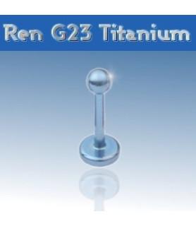 Flot blå labret i ren grade 23 titanium - monroe