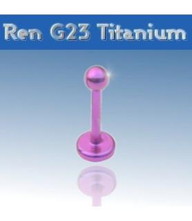 Flot Pink labret i ren grade 23 titanium - monroe