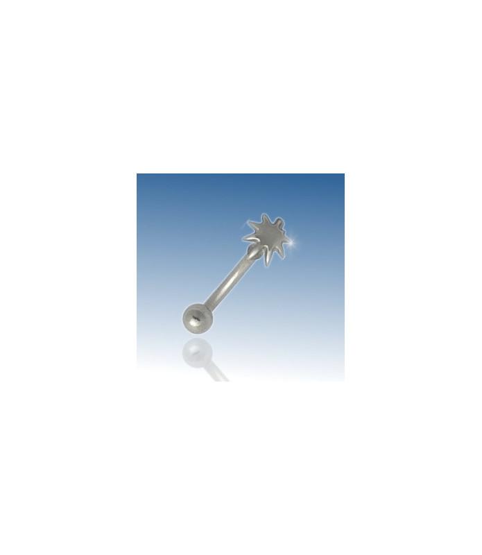 Hampblad - øjenbrynspiercing 316L