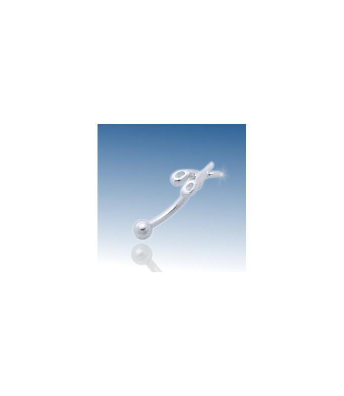 Scissor - øjenbrynspiercing 316L