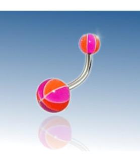 Beachball navlepiercing - Design nr. 2