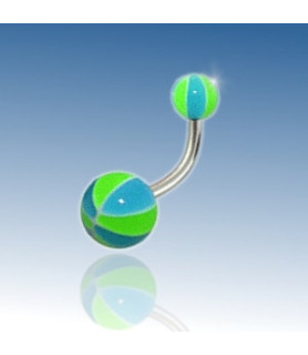 Beachball navlepiercing - Design nr. 3