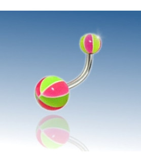 Beachball navlepiercing - Design nr. 5