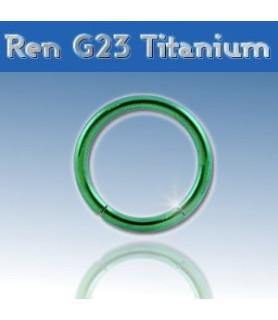 Grøn Gauge-14 segmentring i ren titanium