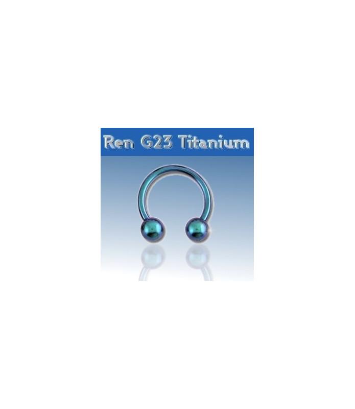 Lysblå titanium hestesko piercing