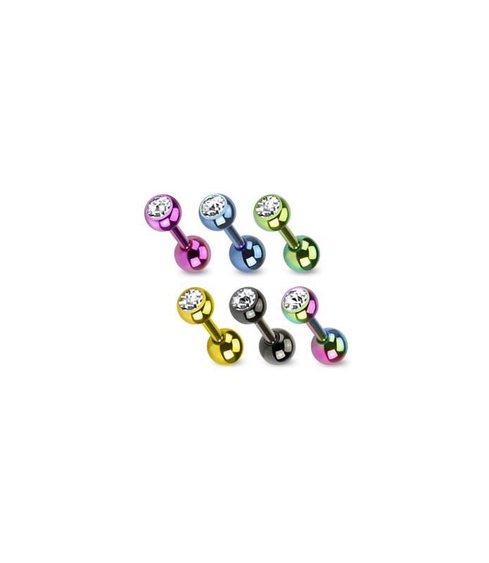 Tragus/helix smykke med flotte titaniumfarver