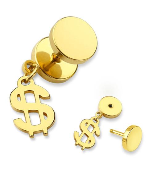 Guldbelagt Fake Plug med Dollar tegn.