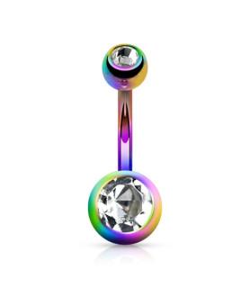 Special Rainbow navlepiercingsmykke med Zirconia