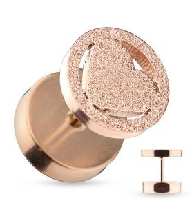 Smuk Ørering med Rose Gold Rustikt look i Hjerte design.
