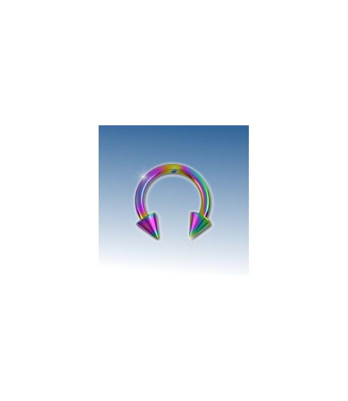 Flot rainbow ring med cones 8 mm.