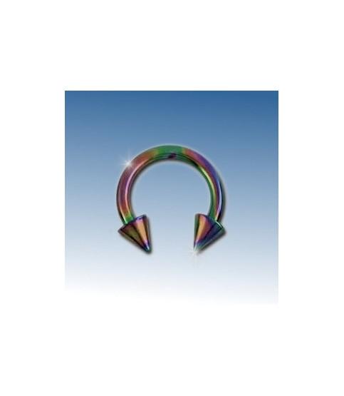 Flot purple ring med cones 8 mm.