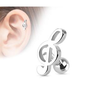 Musiknode til tragus eller helix piercinger