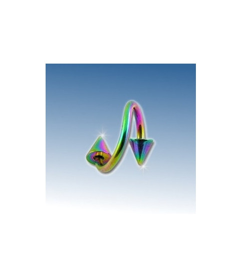 Flot rainbow twister med cones 8 mm.