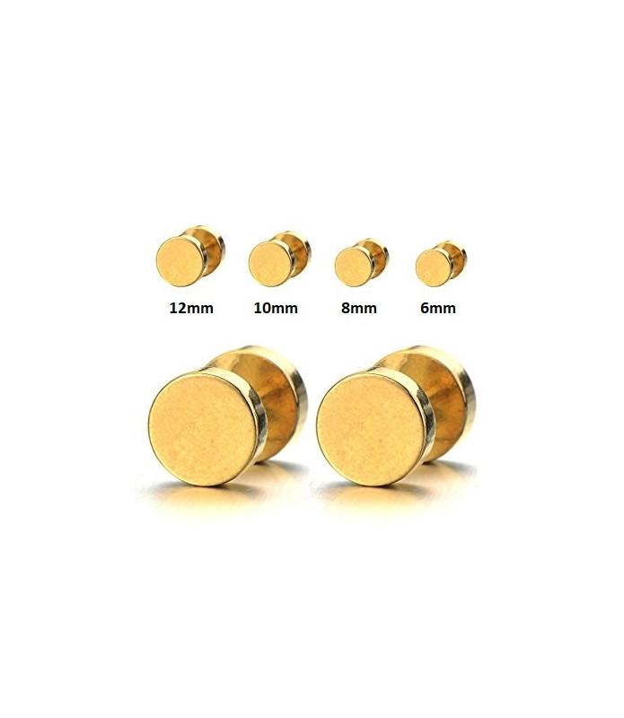 Guldbelagte Fake plugs øreringe