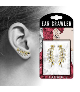 Ear Crawler med flotte Marquise slebne Cirkonia CZ.