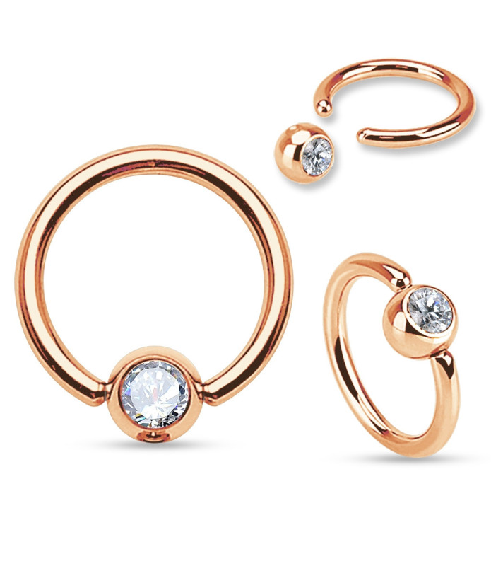 Smuk Kugle Ring i ROSE GOLD - 3 størrelser