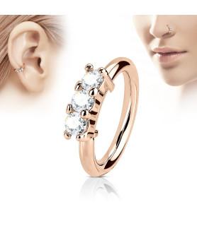 Rose Gold Næse eller Helix ring.