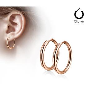 Rose Gold Øre-ringe i Hoop style