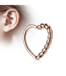 Rose Gold hjerte til din Cartilage eller Daith