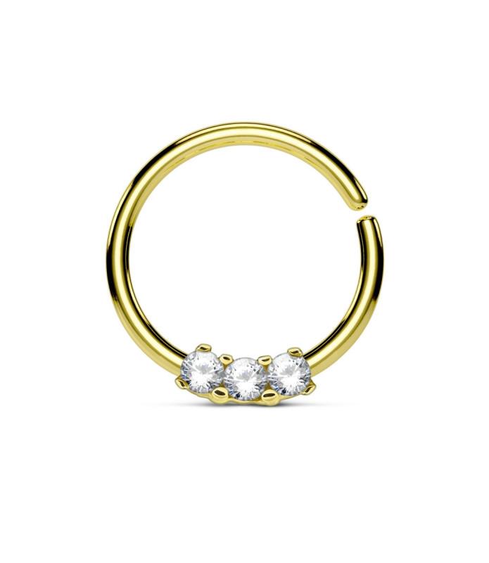 Guld belagt Septum - Helix ring