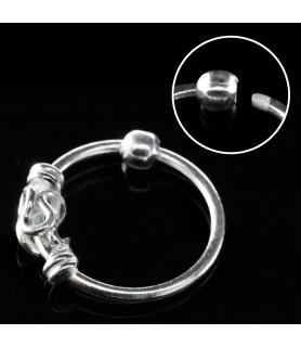 Næsering i rent sølv - Keltisk ornament