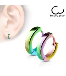 Rainbow Hoops / Huggies Øreringe