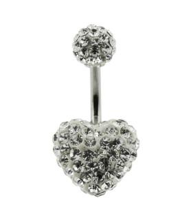 Special edition MULTI Zirconia Navlepiercing med klare sten