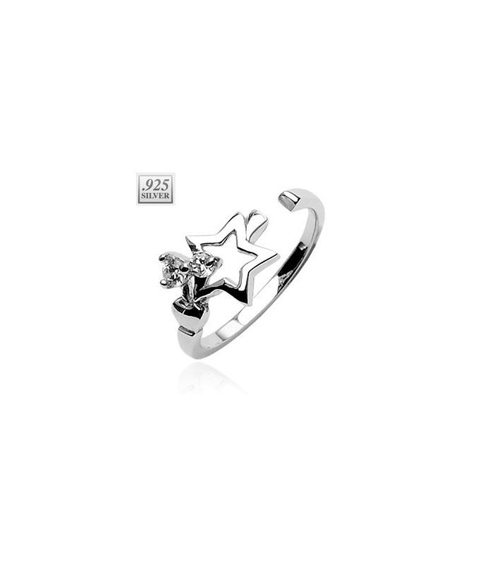 Super flot tåring i ægte sølv besat med flotte princess cut højkvalitets Cubic zirkonia