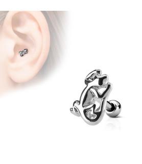 Firben (Gekko) i kirurgisk stål til din tragus piercing