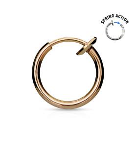 Rose Gold Fake Snyde Piercing Ring