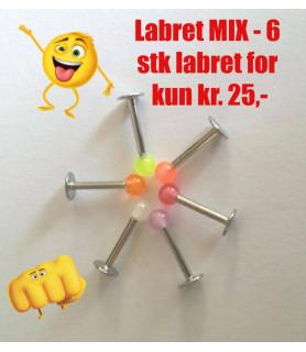 Fedt Labret Farve MIX - 6 stk.