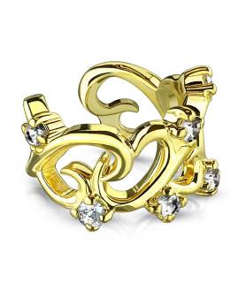 Funklende Guldbelagt Øre-clips Ear cuffs