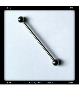 Industrial barbel med kugler - gauge 14