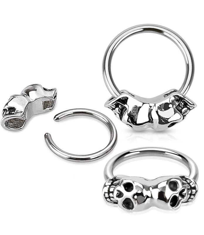 CBR Ring med Twin Skull