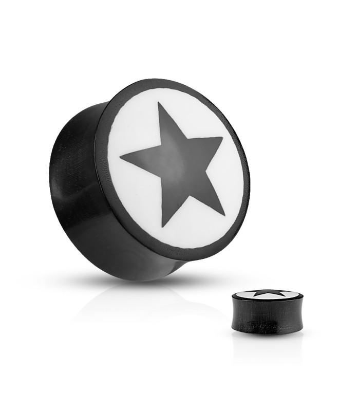 Flot  saddle Plug med STAR Logo i Buffalo Horn